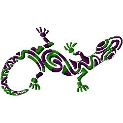 Lizard embroidery design