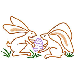 Easter Bunnies embroidery design