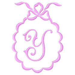 Scalloped Monogram Y embroidery design