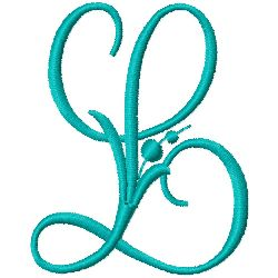 Monogram L embroidery design