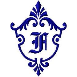 Monogram Crest F embroidery design