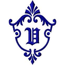 Monogram Crest V embroidery design