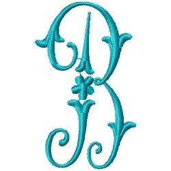 Elegant Monogram B embroidery design