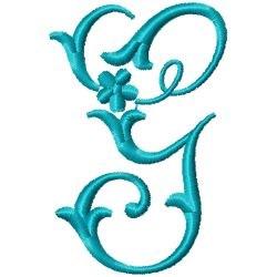 Elegant Monogram G embroidery design