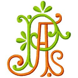 A P Monogram embroidery design