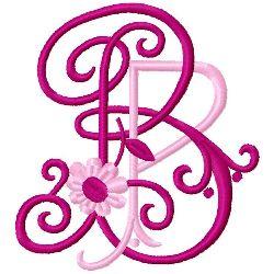 B P Monogram embroidery design