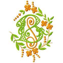 B S Monogram embroidery design