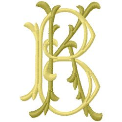 K B Monogram embroidery design