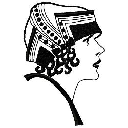 Art Deco Cloche With Brim embroidery design