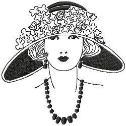 Large Brimmed Cloche Hat embroidery design