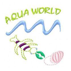 Aqua World embroidery design