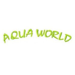 Aqua World embroidery design