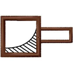 Geometric embroidery design
