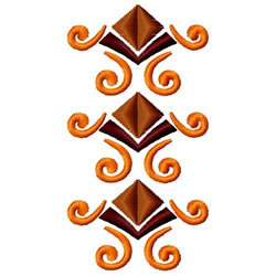 Diamond and Swirl Border embroidery design