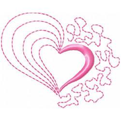 Half Heart 2 embroidery design