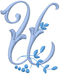 Monogram Alphabet embroidery design