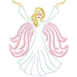 Angel 2 embroidery design