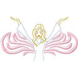 Angel 3 embroidery design