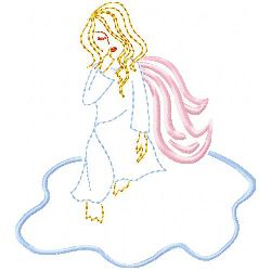 Angel 4 embroidery design