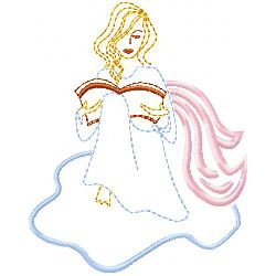 Angel 5 embroidery design