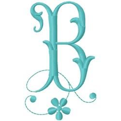 Floral Monogram Font B embroidery design