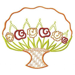 Bouquet embroidery design