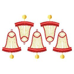 Christmas Bell Pattern embroidery design