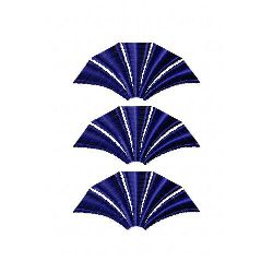 Row Of Fans embroidery design