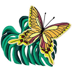 Tropical Butterfly embroidery design