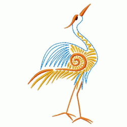 Oriental Bird embroidery design