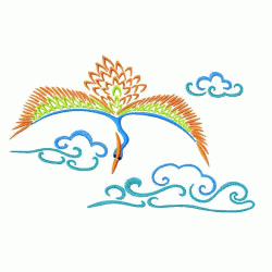 Flying Bird embroidery design