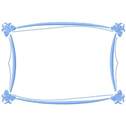 Rectangle Frame embroidery design