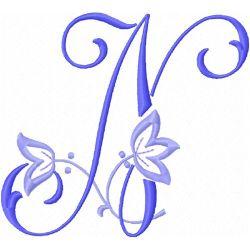 Vintage Alphabet embroidery design