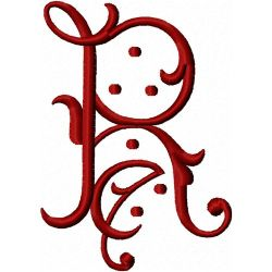 Vintage Alphabet embroidery design