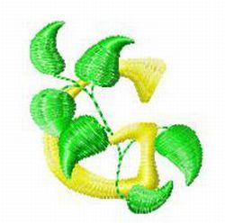 Vine Letter G embroidery design