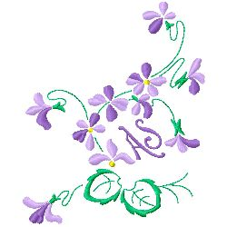 A S Monogram embroidery design