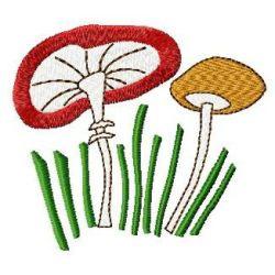Tilted Mushroom embroidery design
