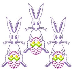 Bunnies and Eggs embroidery design