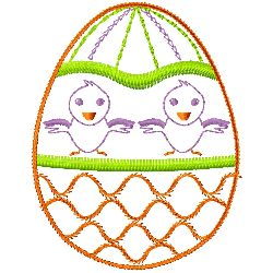Chicks and Eggs embroidery design