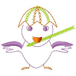 Easter Chick embroidery design