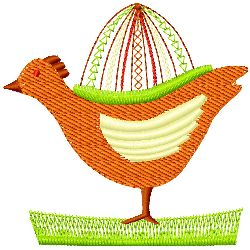 Hen and Egg embroidery design