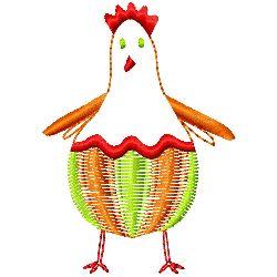 Baby Chicken embroidery design