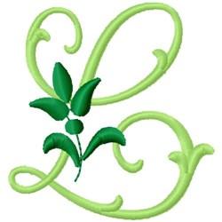 Greenery Monogram Font L embroidery design
