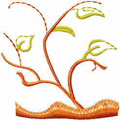 Tree With Leaves embroidery design