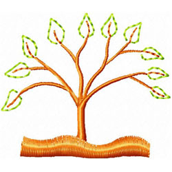 Tree With Leaves 2 embroidery design