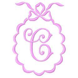 Scalloped Monogram C embroidery design