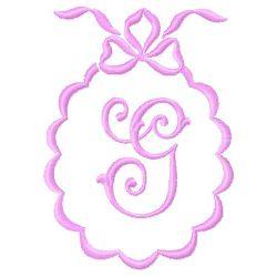 Scalloped Monogram G embroidery design