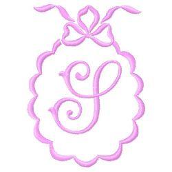 Scalloped Monogram S embroidery design