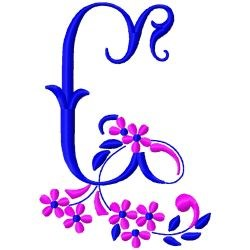 Floral MonogramC embroidery design