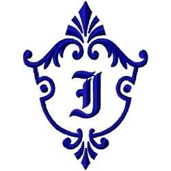 Monogram Crest I embroidery design